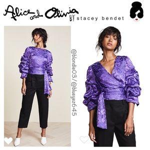 Alice & Olivia Dominica reversible blouse XS